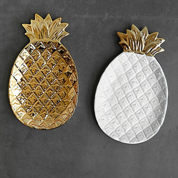 Marble Pineapple Tray, Dish, Marble Plate, Jewelry Organizer, Coaster, Jewelry Tray, Home Decor, Photography Decor, Marble Effect by Etsy