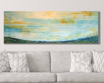 Bedroom Wall Decor Abstract Landscape Canvas Art Etsy