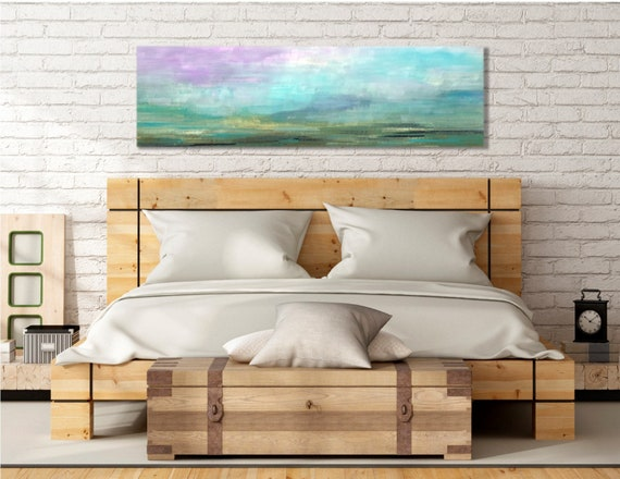 Above Bed Wall Art Abstract Pastel Painting Original Art | Etsy
