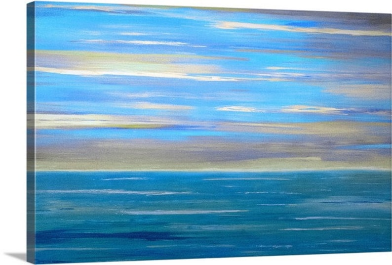 Large Abstract Ocean Print
