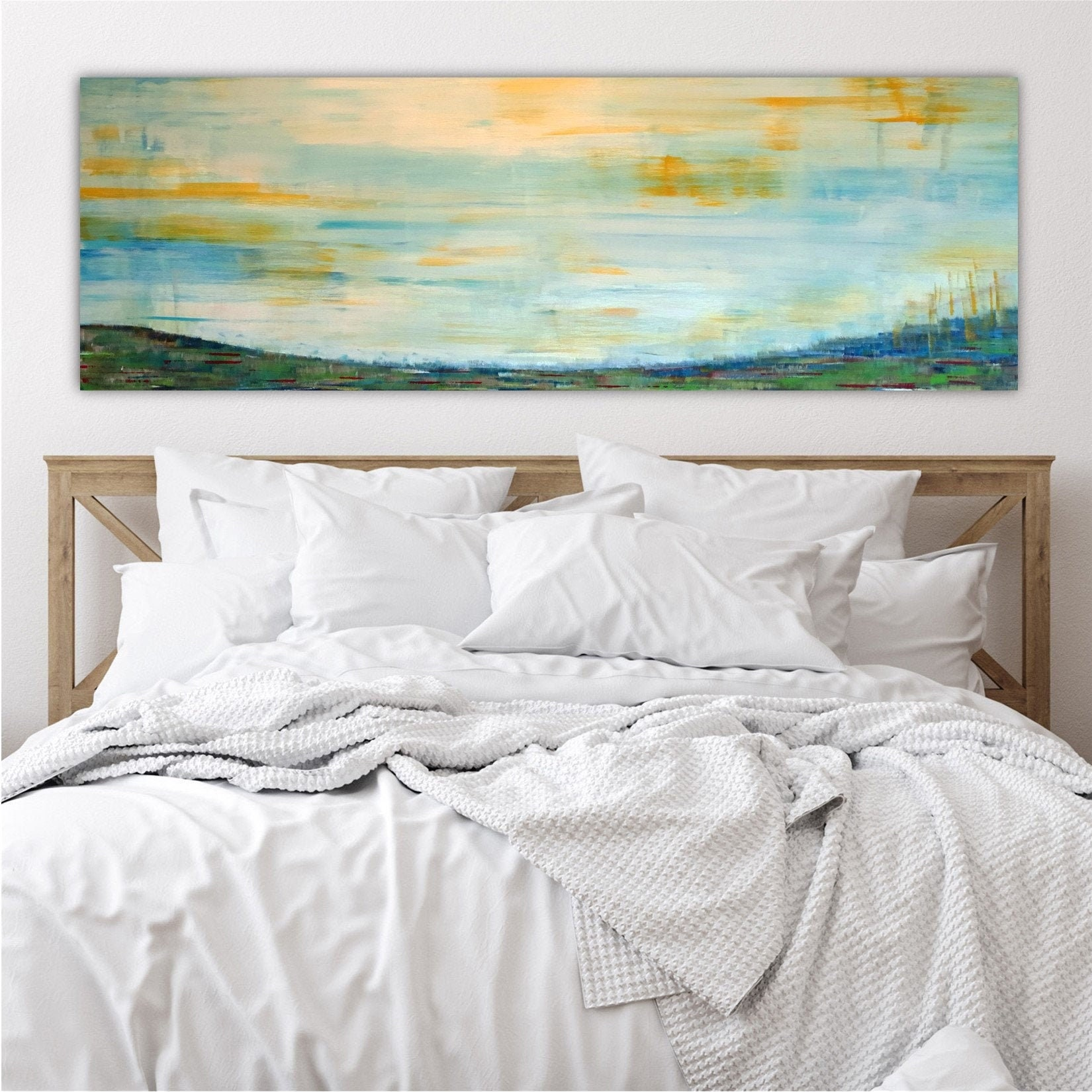 Large Bedroom Wall Decor Over the Bed Master Bedroom Wall Art Extra Large Wall Art Mid Century Art Large Horizontal Wall Art Wall Art Canvas