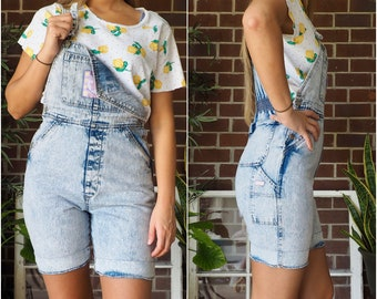 d03fde7be2e3 80s Vintage Overall Shorts  Acid Wash Overalls  80s Gitano Denim Overalls    Women s Vintage Overalls  80s Retro  Women s Vintage Shorts