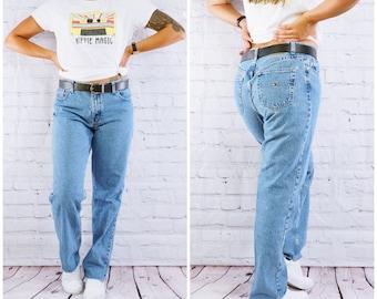 8c5785bb VINTAGE 90S TOMMY HILFIGER Jeans/ Women's Vintage Jeans/Raw Hem Boyfriend  Jeans/ 90s Baggy Fit/ 32 Inch Waist/ Approximate size 10/12