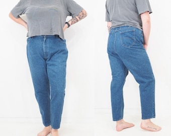 80s Vintage Lee Jeans | High Waisted | Relaxed Fit | Tapered Leg | Aprx Women's Size 18