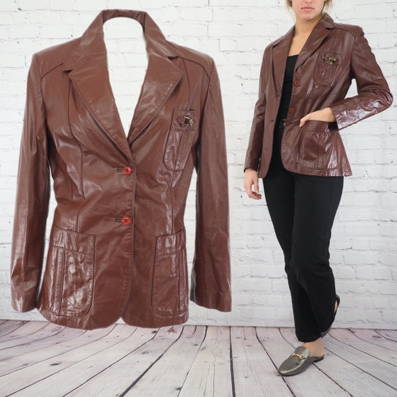 WOMEN'S LEATHER JACKET/Vintage Aigner Leather Jack