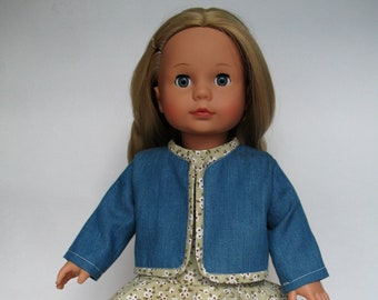 Dress and jacket for Gotz doll, 18 inch doll clothing, AG doll dress