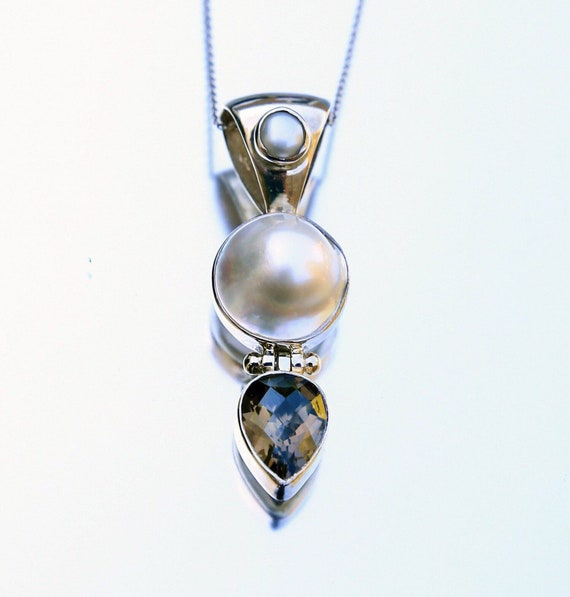 Mothercare Necklace Mother Love Agate Pendant Moonstone Necklace Smoky Quartz Necklace Gift for Her Moonstone Necklace Statement Necklace