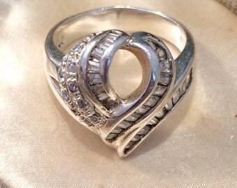 Vintage Silver Ring, Vintage Paste Ring, Paste Ring, Diamond Paste Ring, Silver Ring, Statement Ring, Vintage Jewelry, Estate Jewelry, Ring