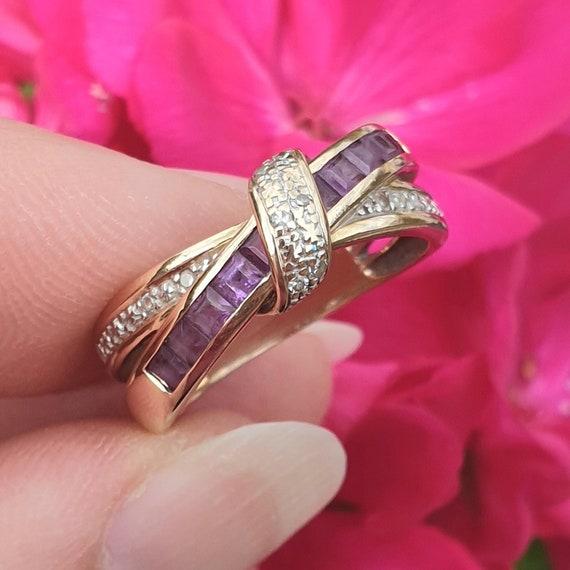 Amethyst Ring, Amethyst Gold Ring, 9ct Gold Amethy