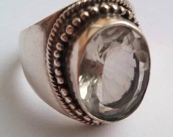 Green Amethyst Ring, Amethyst Ring, Amethyst Silver Ring, Vintage Amethyst Ring, Green Amethyst, Amethyst Jewellery, Vintage Silver Ring