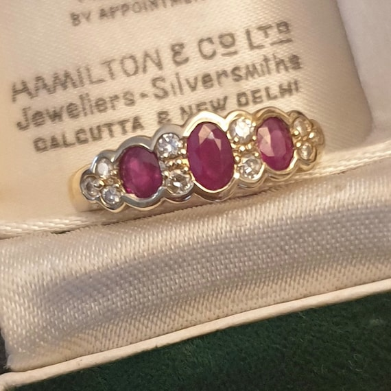 Ruby Ring, Ruby Gold Ring, Vintage Ruby Ring, Ruby
