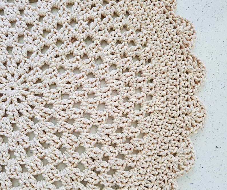Many Colors Many Sizes  Handmade Large Crochet Rug Washable image 0