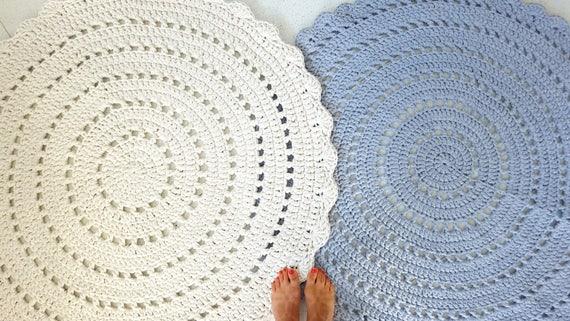 Viele Farben Baby Kinderzimmer Teppich Runden Häkeln Rond Etsy