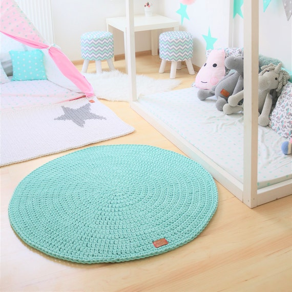 New Color Mint Round Rug Round Area Rug Nursery Rugs Etsy