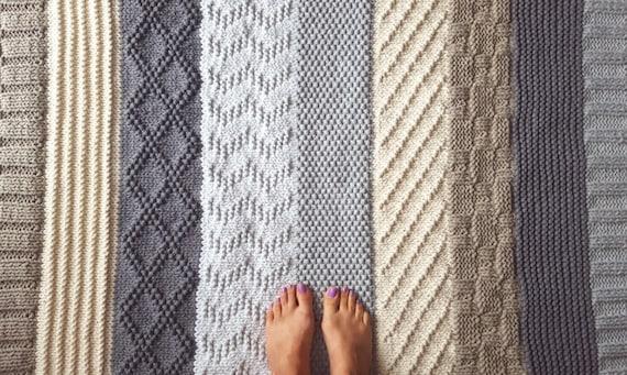 Mehrfarbige Patchwork Teppich Häkeln Teppich Streifen Etsy