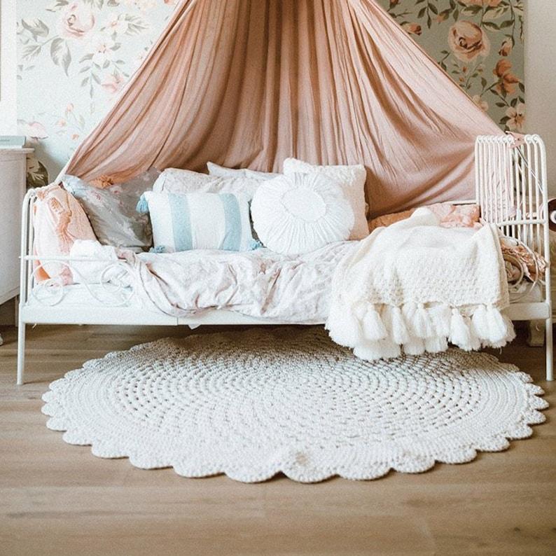 Many Colors Many Sizes  Handmade Ecru Cream Large Crochet image 0
