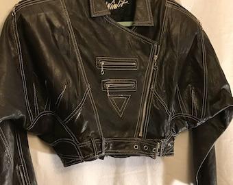 Vintage Black Glove leather jacket large