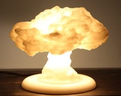 3D Printed Nuclear Explosion USB Powered Lamp \\ Nuke Lamp \\ Lampshade \\ Lighting \\ Explosion \\ Lamp Base