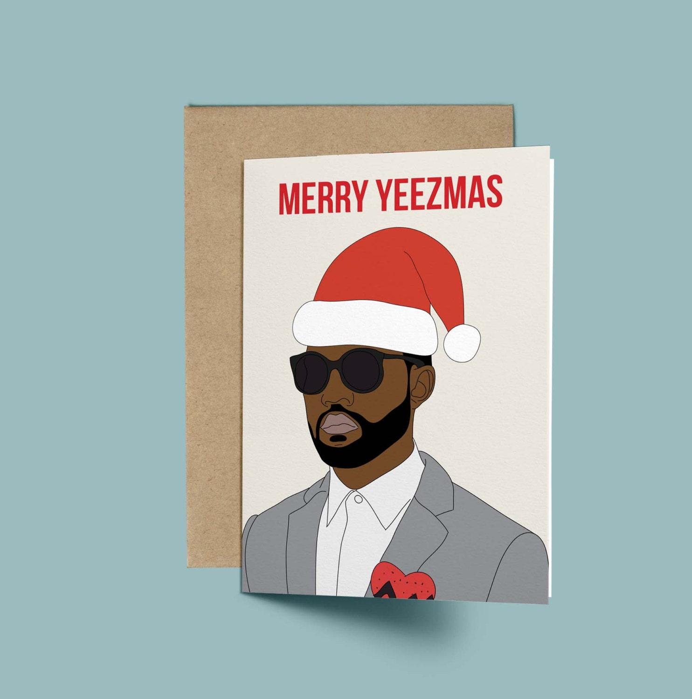 Kanye West Merry Yeezmas Funny Christmas Card Anniversary | Etsy