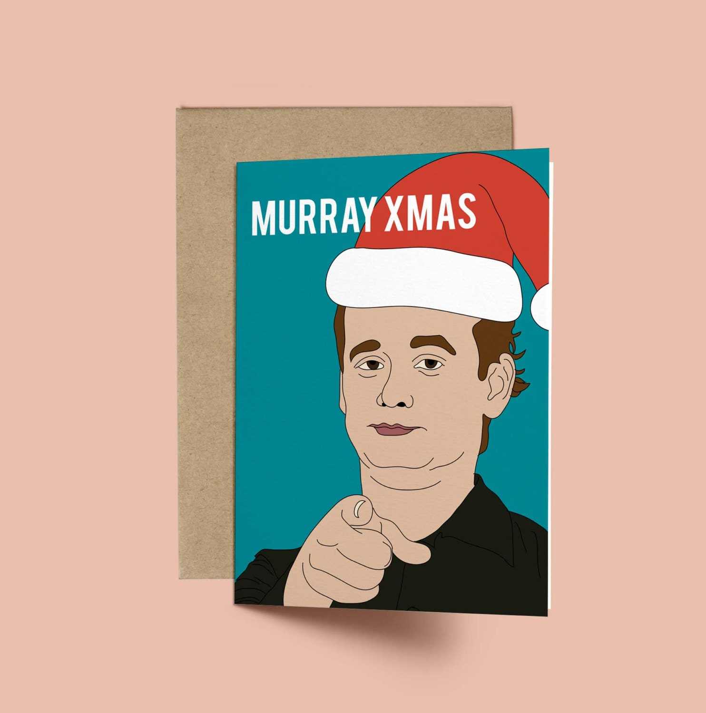 Bill Murray Murray XMAS Funny Christmas Card Anniversary | Etsy