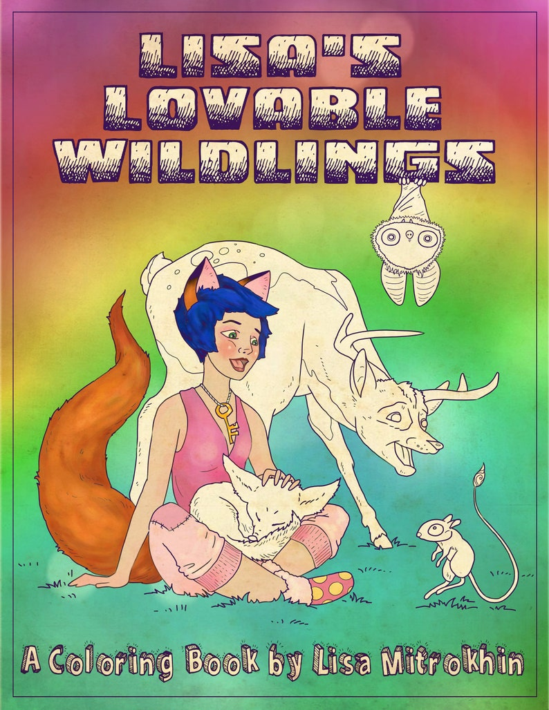 Lisa's Lovable Wildlings  a coloring book for kids of all image 0