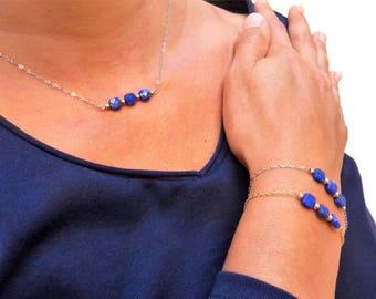 Collier en Lapis-lazuli - Argent 925