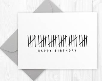 Happy 30th Birthday Printable Card Diy Instant Download Funny Humor For Boyfriend Husband Best