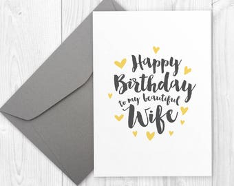 Printable Happy Birthday Card For Wife