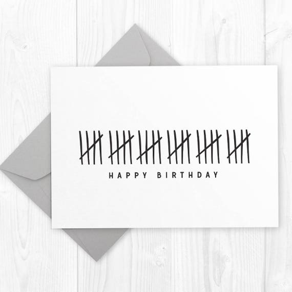 Happy 30th Birthday Printable Card DIY Instant Download