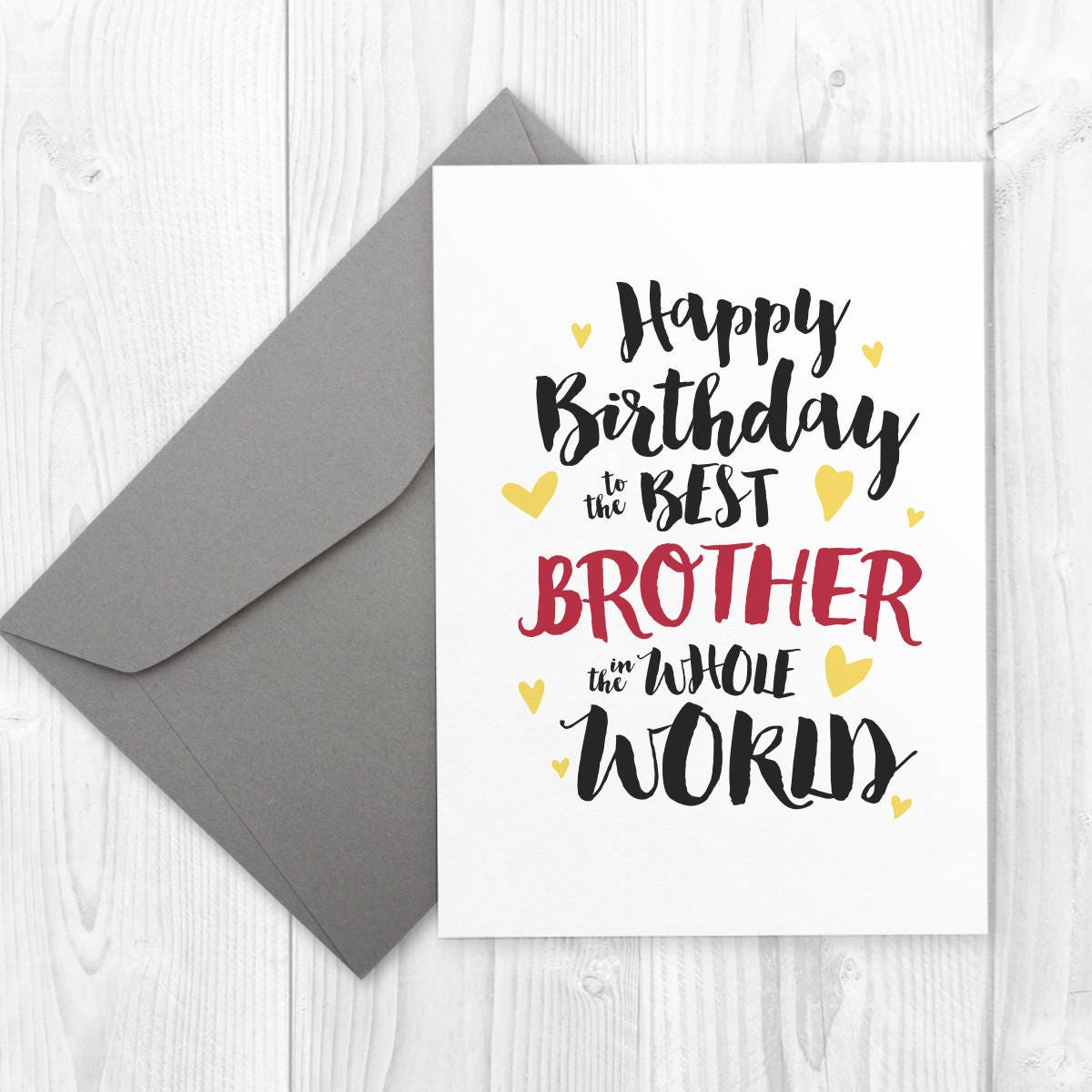 Printable Happy Birthday Card For Brother Best Brother In