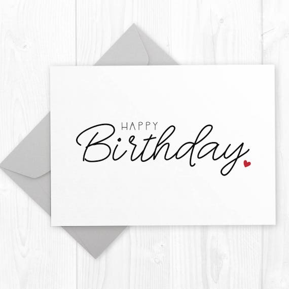 Happy Birthday Printable Card Perfect For