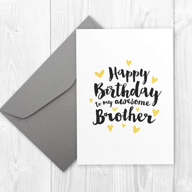 Printable Happy Birthday Card For Brother BIRTHDAY To