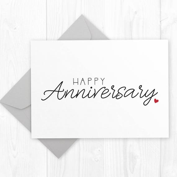 wedding anniversary printable card for husband happy wedding etsy