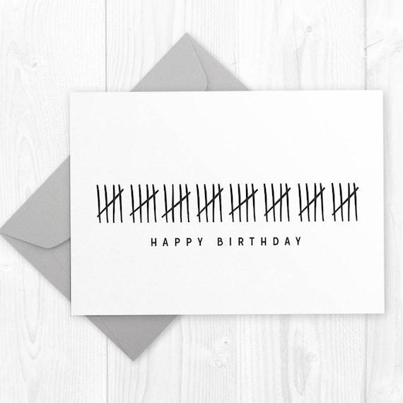 Happy 40th Birthday Printable Card Funny Humor DIY