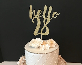 Brianmarkcordes 28th Birthday Cake Many Colors Topper Hello 30