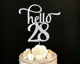 28 cake topper | Etsy
