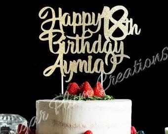 Marvelous 18Th Birthday Cake Topper Etsy Birthday Cards Printable Nowaargucafe Filternl