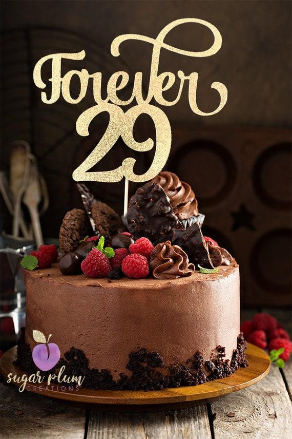 Forever 29 Cake Topper 30th Birthday Cake Topper Etsy