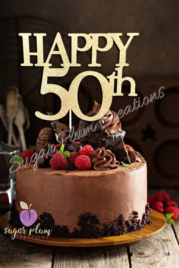 Pleasing Any Number Happy 50Th Birthday Cake Topper 50 And Fabulous Etsy Funny Birthday Cards Online Alyptdamsfinfo