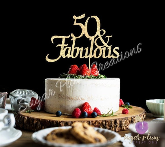 Phenomenal Any Number Gold Glitter 50Th Birthday Cake Topper 50 And Etsy Personalised Birthday Cards Sponlily Jamesorg