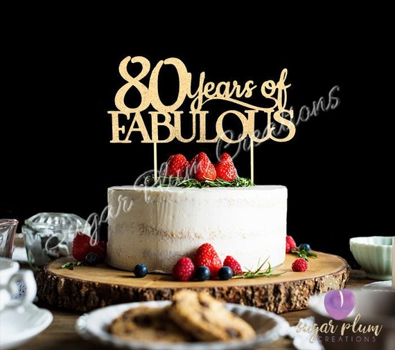 Any Number Birthday Cake Topper Wedding Anniversary