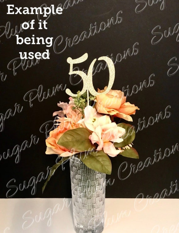 Any Number Centerpieces 50th Birthday Centerpieces Gold Etsy