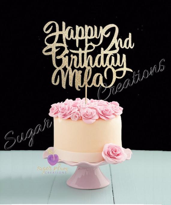 Incredible Second Birthday Cake Topper 2Nd Birthday Cake Topper Any Etsy Funny Birthday Cards Online Elaedamsfinfo
