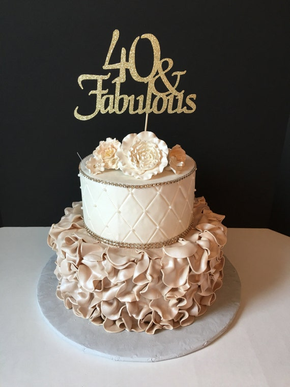 Any Number Gold Glitter 50th Birthday Cake Topper 50 And Etsy