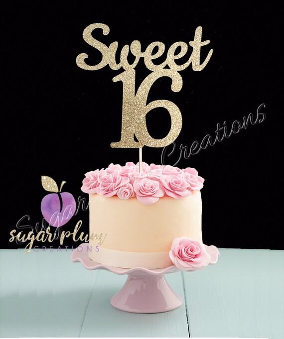 Suss 16 Geburtstag Kuchen Deckel Sweet Sixteen Kuchen Topper Etsy