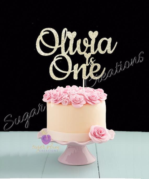 ** 10 cm PAILLETTES D/'OR Numéro 1 Bougie 1st Fête D/'Anniversaire Gâteau Décoration Nouveau **