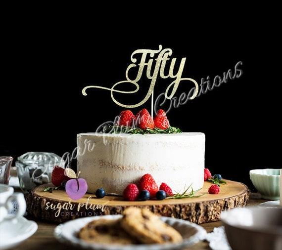 Enjoyable Any Number Gold Glitter Fifty Cake Topper 50Th Birthday Cake Etsy Personalised Birthday Cards Arneslily Jamesorg