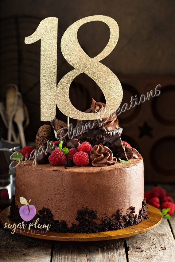 Prime Any Number Gold Glitter 18Th Birthday Cake Topper Number Etsy Funny Birthday Cards Online Inifodamsfinfo
