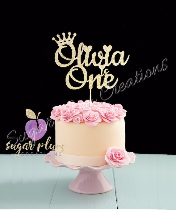 Amazing Princess First Birthday Cake Topper Prince First Birthday Etsy Personalised Birthday Cards Veneteletsinfo