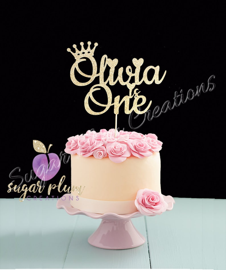Princess First Birthday cake topper, Prince first birthday cake topper